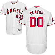 Majestic Men's Full Roster Authentic Los Angeles Angels Flex Base Home White On-Field Jersey