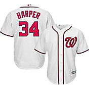 Majestic Men's Replica Washington Nationals Bryce Harper #34 Cool Base Home White Jersey