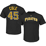 Majestic Triple Peak Men's Pittsburgh Pirates Gerrit Cole Black T-Shirt