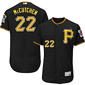 Majestic Men's Authentic Pittsburgh Pirates Andrew McCutchen #22 Alternate Black Flex Base On-Field Jersey