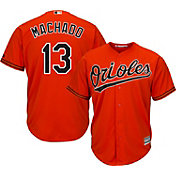 Majestic Men's Replica Baltimore Orioles Manny Machado #13 Cool Base Alternate Orange Jersey