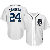 Majestic Men's Replica Detroit Tigers Miguel Cabrera #24 Cool Base Home White Jersey