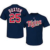 Majestic Men's Minnesota Twins Byron Buxton #25 Navy T-Shirt