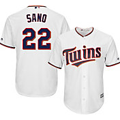 Majestic Men's Replica Minnesota Twins Miguel Sanó #22 Cool Base Home White Jersey