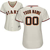 Majestic Women's Custom Cool Base Replica San Francisco Giants Home Ivory Jersey