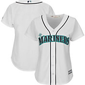 Majestic Women's Replica Seattle Mariners Cool Base Home White Jersey