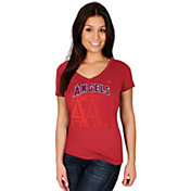Majestic Women's Los Angeles Angels Got Him Chasing Red V-Neck T-Shirt