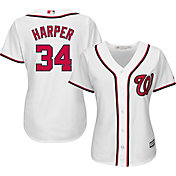 Majestic Women's Replica Washington Nationals Bryce Harper #34 Cool Base Home White Jersey
