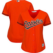Majestic Women's Replica Baltimore Orioles Cool Base Alternate Orange Jersey
