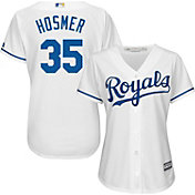 Majestic Women's Replica Kansas City Royals Eric Hosmer #35 Cool Base Home White Jersey