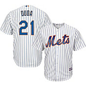 Majestic Youth Replica New York Mets Lucas Duda #21 Cool Base Home White Jersey