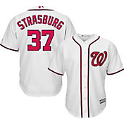 Majestic Youth Replica Washington Nationals Stephen Strasburg #37 Cool Base Home White Jersey