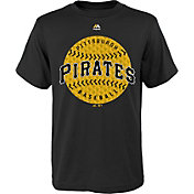 Majestic Youth Pittsburgh Pirates Electric Baseball Black T-Shirt