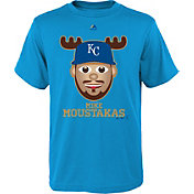 Majestic Youth Kansas City Royals Mike Moustakas Emoji Light Blue T-Shirt