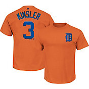 Majestic Youth Detroit Tigers Ian Kinsler #3 Orange T-Shirt