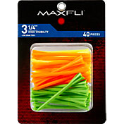 Maxfli Pronged 3.25'' High Visibility Golf Tees – 40 Pack