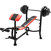 Marcy Competitor Pro Standard Weight Bench with 100 lb. Weight Set