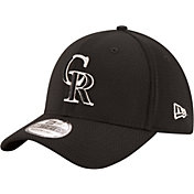 New Era Men's Colorado Rockies 39Thirty Tone Tech Black Flex Hat