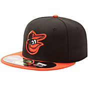 New Era Men's Baltimore Orioles 59Fifty Road Black Authentic Hat