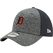 New Era Men's Detroit Tigers 39Thirty Shadow Blocker Grey/Navy Flex Hat