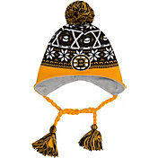 New Era Men's Boston Bruins Stay Toasty Black/Gold Peruvian Knit Hat
