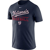 Nike Men's Washington Nationals Practice Navy T-Shirt