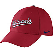 Nike Men's Washington Nationals Dri-FIT Red Legacy 91 Swoosh Flex Hat