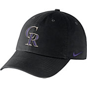 Nike Men's Colorado Rockies Dri-FIT Black Heritage 86 Stadium Adjustable Hat