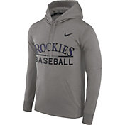 Nike Men's Colorado Rockies Dri-FIT Grey Therma Pullover Hoodie