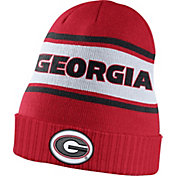 Nike Men's Georgia Bulldogs Red Sideline Knit Performance Beanie