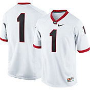 Nike Men's Georgia Bulldogs White #1 Game Football Jersey