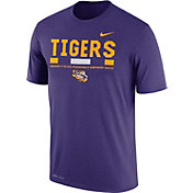 Nike Men's LSU Tigers Purple Football Staff Legend T-Shirt