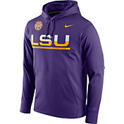 Nike Men's LSU Tigers Purple Circuit PO Hoodie