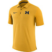 Nike Men's Michigan Wolverines Maize Team Issue Football Sideline Performance Polo