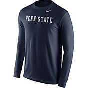 Nike Men's Penn State Nittany Lions Blue Wordmark Long Sleeve Shirt