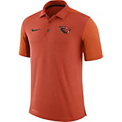 Nike Men's Oregon State Beavers Orange Team Issue Football Sideline Performance Polo