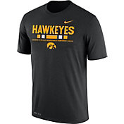 Nike Men's Iowa Hawkeyes Football Staff Legend Black T-Shirt