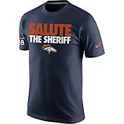 Nike Men's Denver Broncos 'Salute the Sheriff' Peyton Manning Navy T-Shirt