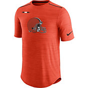Nike Men's Cleveland Browns Sideline 2017 Player Orange Top