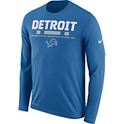 Nike Men's Detroit Lions Legend Staff Blue Long Sleeve Performance Shirt