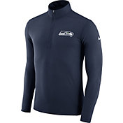 Nike Men's Seattle Seahawks Element Navy Quarter-Zip Top