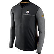 Nike Men's Pittsburgh Steelers Sideline 2017 Coaches Black Half-Zip Top