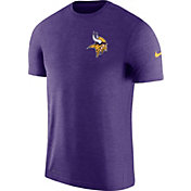 Nike Men's Minnesota Vikings Sideline 2017 Coaches Performance Purple T-Shirt