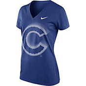 Nike Women's Chicago Cubs Dri-FIT Royal Legend V-Neck T-Shirt