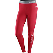 Nike Women's Georgia Bulldogs Red Pro Hyperwarm Tights