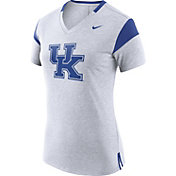 Nike Women's Kentucky Wildcats White/Blue Fan V-Neck T-Shirt