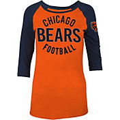 5th & Ocean Women's Chicago Bears Orange Raglan Shirt
