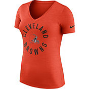 Nike Women's Cleveland Browns Dri-FIT Touch Orange Performance T-Shirt