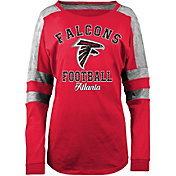5th & Ocean Women's Atlanta Falcons Boyfriend Red Long Sleeve Shirt