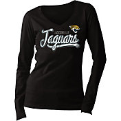 5th & Ocean Women's Jacksonville Jaguars Long Sleeve Black Shirt